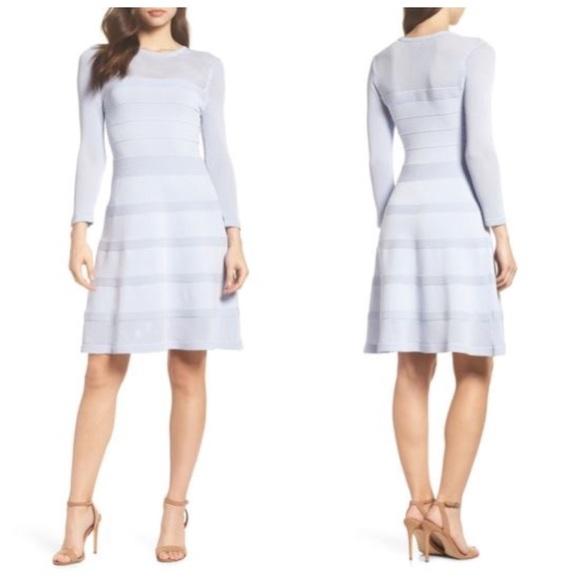 Vince Camuto Mix Stitch Pointelle Dress f2a3ae923